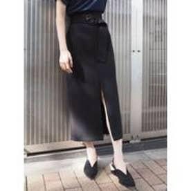 MURUA ベルテッドペンシルスカート(ブラック)