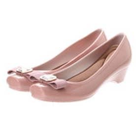 glitter ブランコワール Balancoireリボンビジューレインパンプス (ピンク)