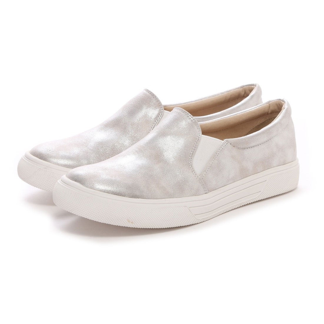 4a7ac28810efc7 オアシス the oasis 白底スリッポン(シルバー) -靴&ファッション通販 ロコンド〜自宅で試着、気軽に返品