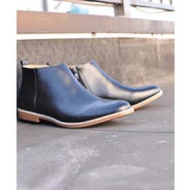 SFW サンエープラス AAA+ 軽くて履きやすくて歩きやすい!シンプルで合わせやすく履いた時のシルエットがきれいなショートブーツ/2356 (ブラック)