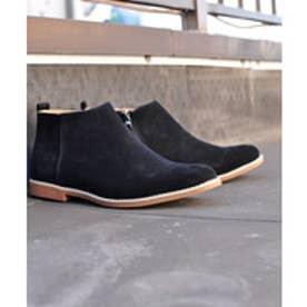 SFW サンエープラス AAA+ 軽くて履きやすくて歩きやすい!シンプルで合わせやすく履いた時のシルエットがきれいなショートブーツ/2356 (ブラックスエード)