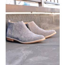 SFW サンエープラス AAA+ 軽くて履きやすくて歩きやすい!シンプルで合わせやすく履いた時のシルエットがきれいなショートブーツ/2356 (グレースエード)