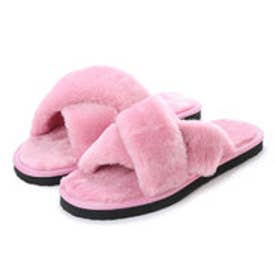 SFW サンエープラスフェミニン AAA+ feminine クロスベルトムートンサンダル (ピンク)
