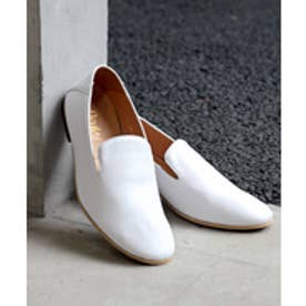 SFW デデス Dedes [本革日本製]シンプルで合わせやすい!踵が踏めるオペラシューズ/ 5261 (ホワイト)