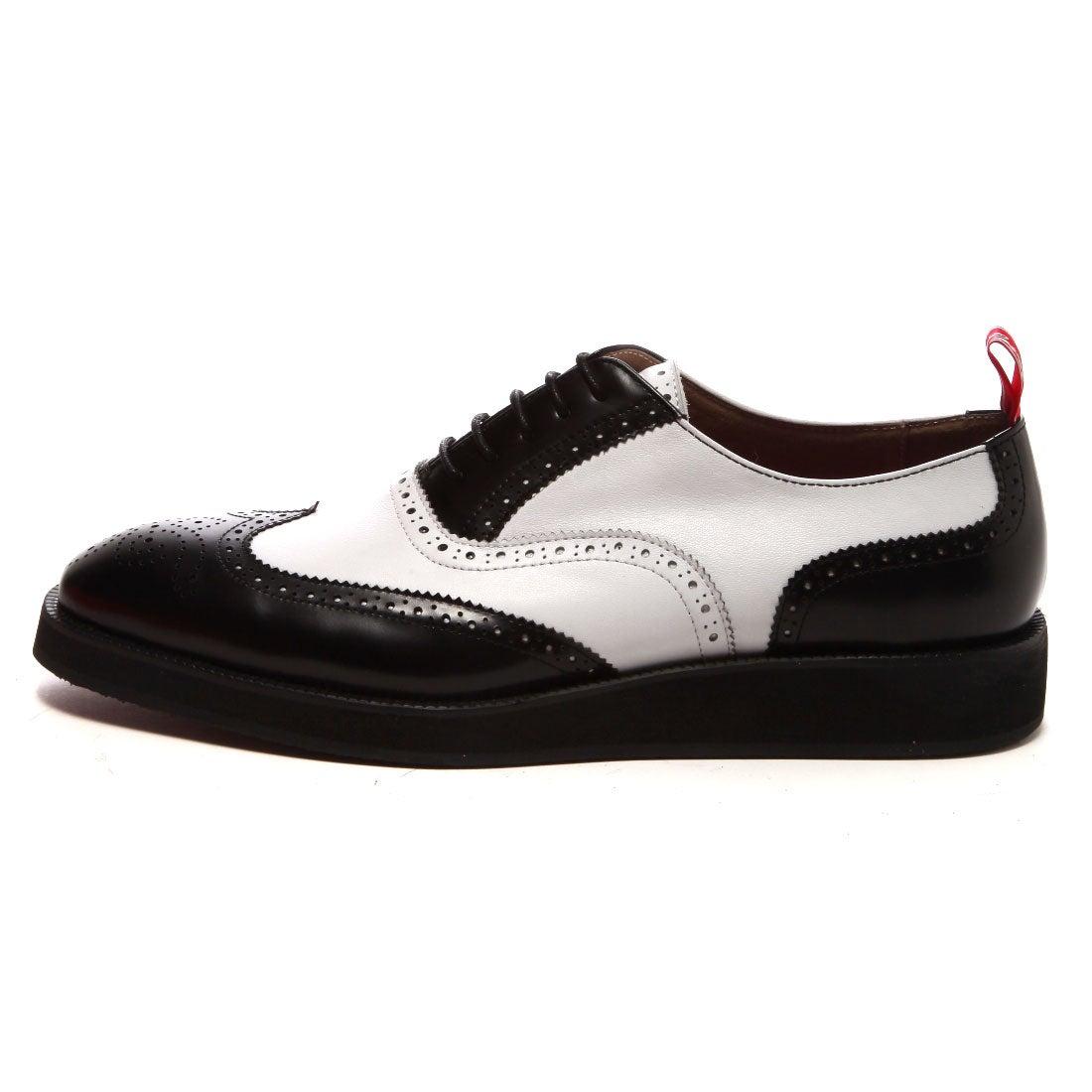 SFW レッド カバー RED COVER 厚底白黒コンビシューズ(ブラックホワイト) ,靴とファッションの通販サイト ロコンド