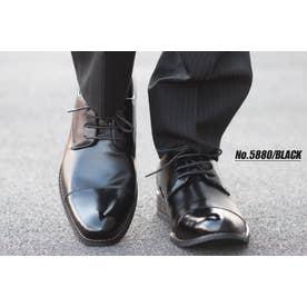 SFW ジンク ZINC 日本製本革外羽根ストレートシップビジネスシューズ (ブラック)