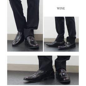 SFW ジンク ZINC 内羽根ストレートチップシューズ (ワイン)