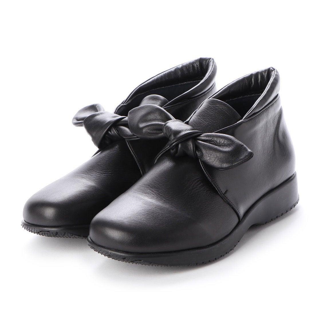 ロコンド 靴とファッションの通販サイトウォーカーヒル Walker Hill 大人かわいいリボン 雲の上のはき心地4E コンフォートシューズ (ブラック)