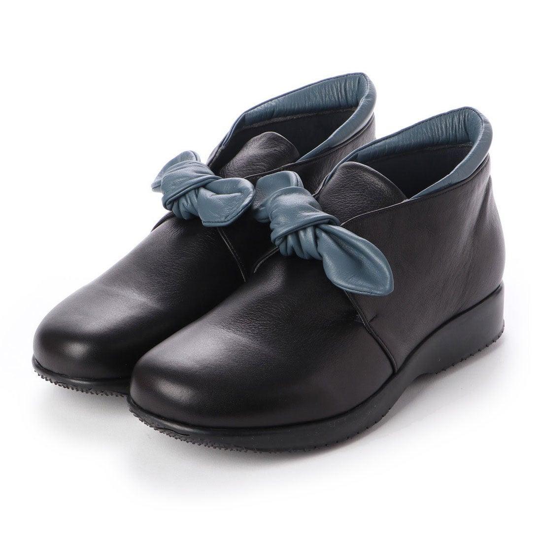 ロコンド 靴とファッションの通販サイトウォーカーヒル Walker Hill 大人かわいいリボン 雲の上のはき心地4E コンフォートシューズ (ブラック/ネイビーC)