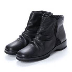 ベルフローリー BELL FLORRIE ウェッジヒールショートブーツ (ブラック)