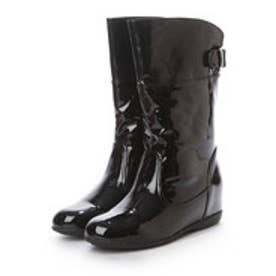 トゥインクトゥインク twinktwink 【撥水・雨の日OK!】フラットハーフレインブーツ (ブラック)
