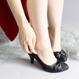 バニティービューティー vanitybeauty 【柔らかSoft Insole】ターバンレースパンプス (ブラック)