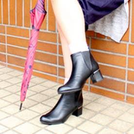 バニティービューティー vanitybeauty 【撥水・雨の日OK!】サイドゴアショートブーツ (ブラック)
