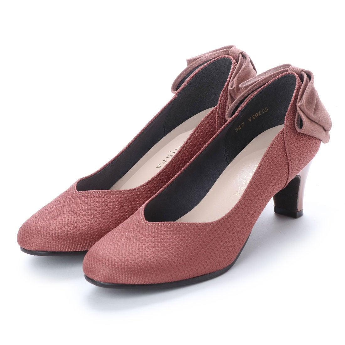 バニティービューティー vanitybeauty スクエアバックバンドパンプス (ピンク) レディース