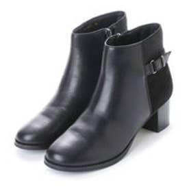 ベルフローリー BELL FLORRIE ベルフローリー スエードコンビショートブーツ (ブラック)