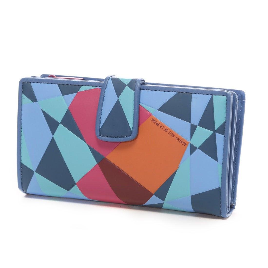 90054c7693d9 アガタ・ルイズ・デ・ラ・プラダ AGATHA RUIZ DE LA PRADA 幾何学ハート柄大容量財布(BLUE) -アウトレット通販 ロコレット  (LOCOLET)