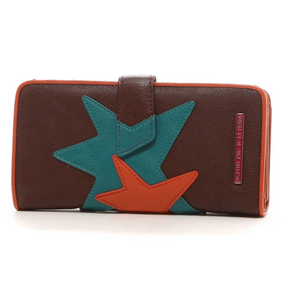 98ca7d0536f2 アガタ ルイス デ ラ プラダ AGATHA RUIZ DE LA PRADA 星アップリケ大容量財布(ブラウン) -アウトレット通販 ロコレット  (LOCOLET)