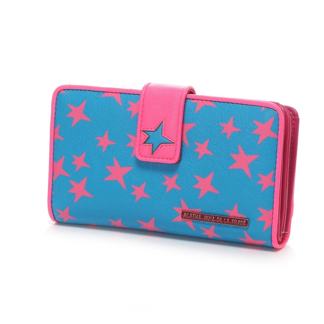 52135044d61e アガタ ルイス デ ラ プラダ AGATHA RUIZ DE LA PRADA 星大容量財布(ブルー) -アウトレット通販 ロコレット  (LOCOLET)