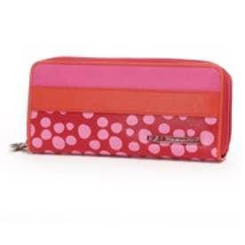 アガタ ルイス デ ラ プラダ AGATHA RUIZ DE LA PRADA ポケットたくさん大容量ラウンドダブルファスナー財布 (フーシャ)