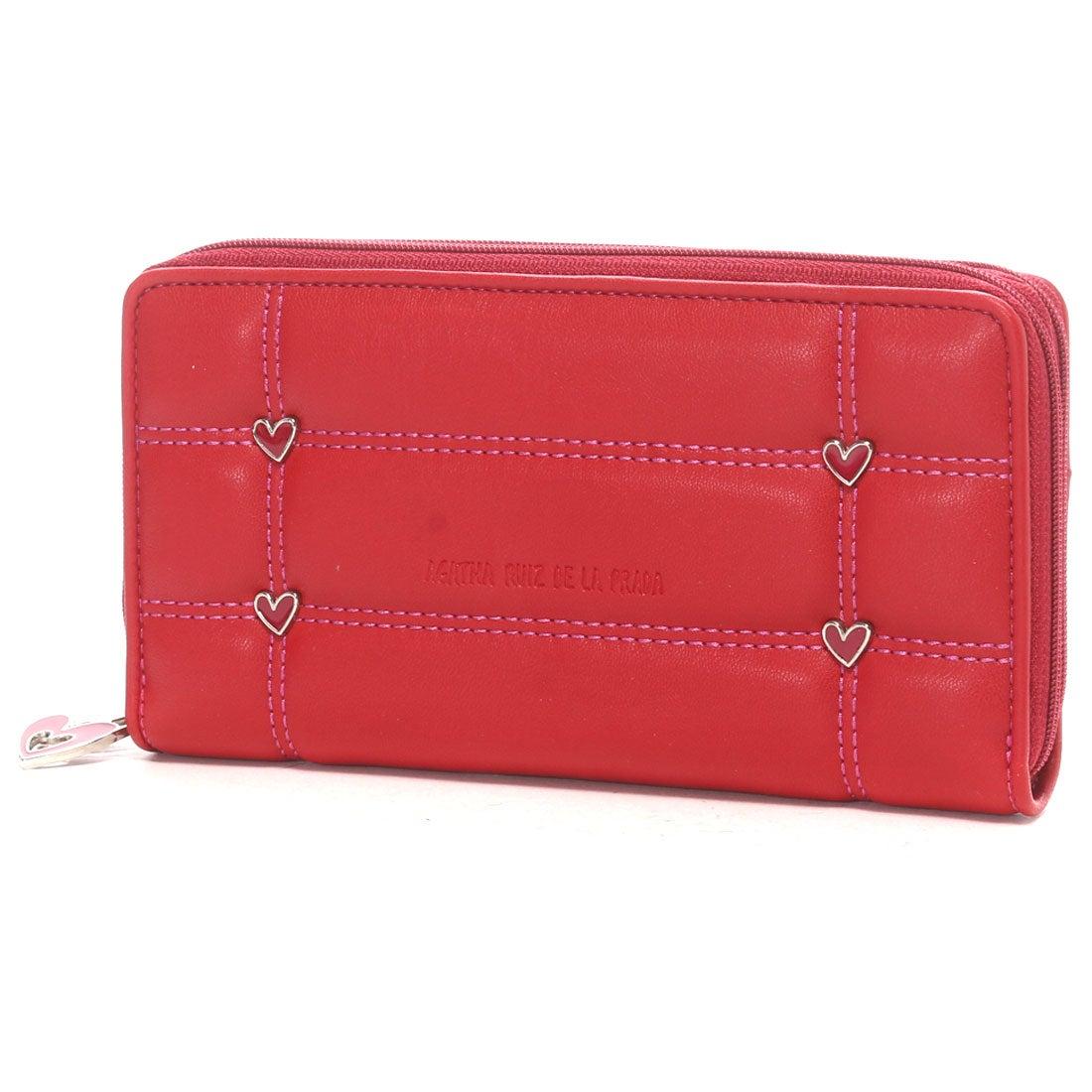 2304f4e797c5 アガタ ルイス デ ラ プラダ AGATHA RUIZ DE LA PRADA ポケットたくさん大容量ラウンドダブルファスナー財布 (レッド)  -アウトレット通販 ロコレット (LOCOLET)