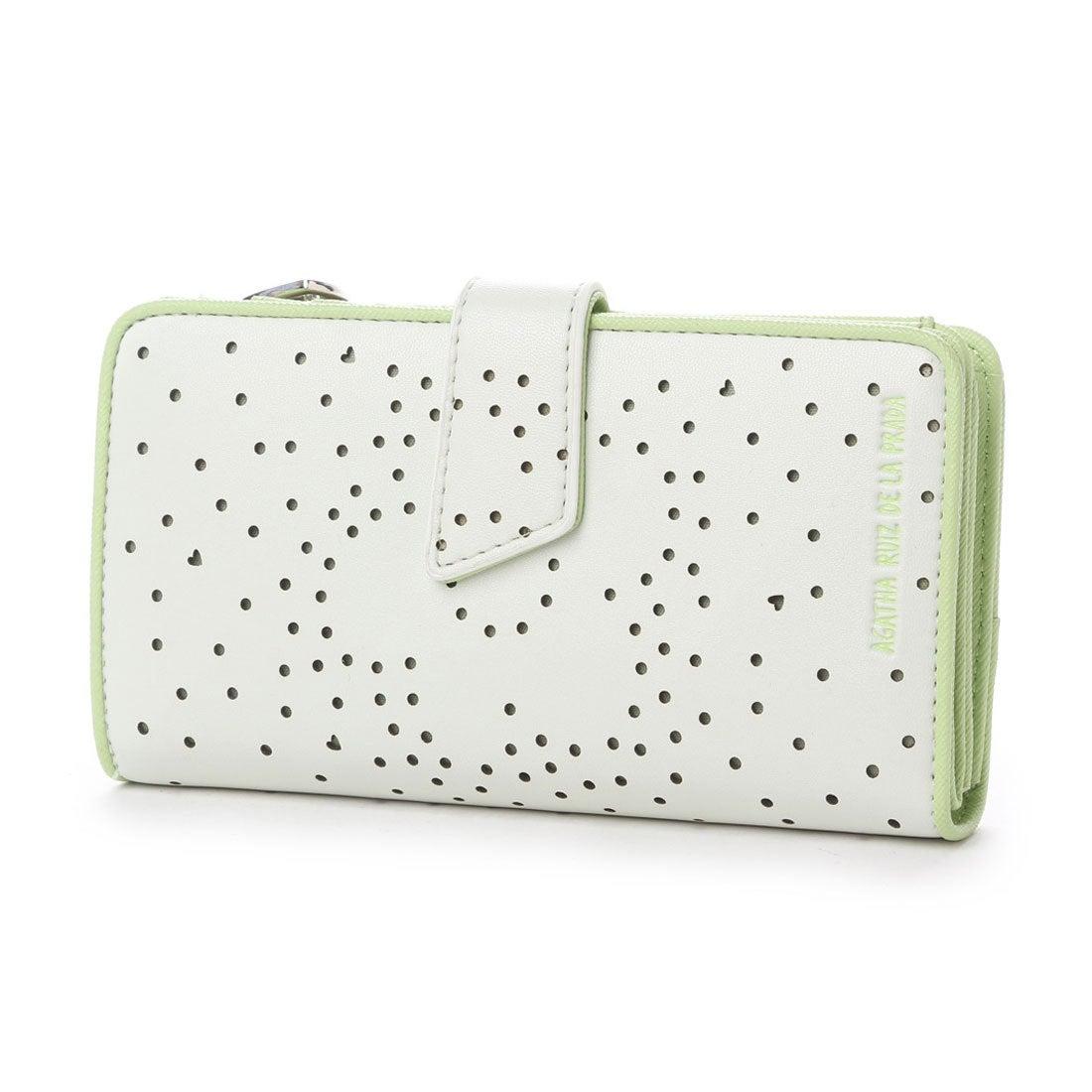 f3f0d3e7c665 アガタ ルイス デ ラ プラダ AGATHA RUIZ DE LA PRADA 花パンチング大容量財布 (WHITE) -アウトレット通販 ロコレット  (LOCOLET)