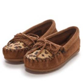 【Kid's】ミネトンカ MINNE TONKA LEOPARD KILTY MOC(Dusty Brown)