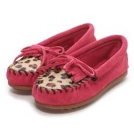 【Kid's】ミネトンカ MINNE TONKA LEOPARD KILTY MOC(Hot Pink)