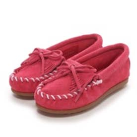 【Kid's】ミネトンカ MINNE TONKA KILTY SUEDE MOC(Hot Pink)