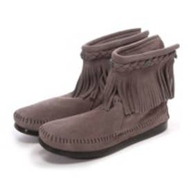 ミネトンカ MINNE TONKA HI TOP BACK ZIP BOOT (Grey)