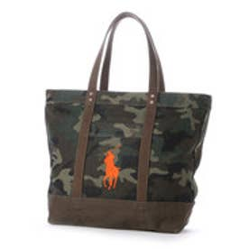 ポロ Polo BIG PONY CAMO TOTE (GREEN CAMO/ ORANGE PONY)