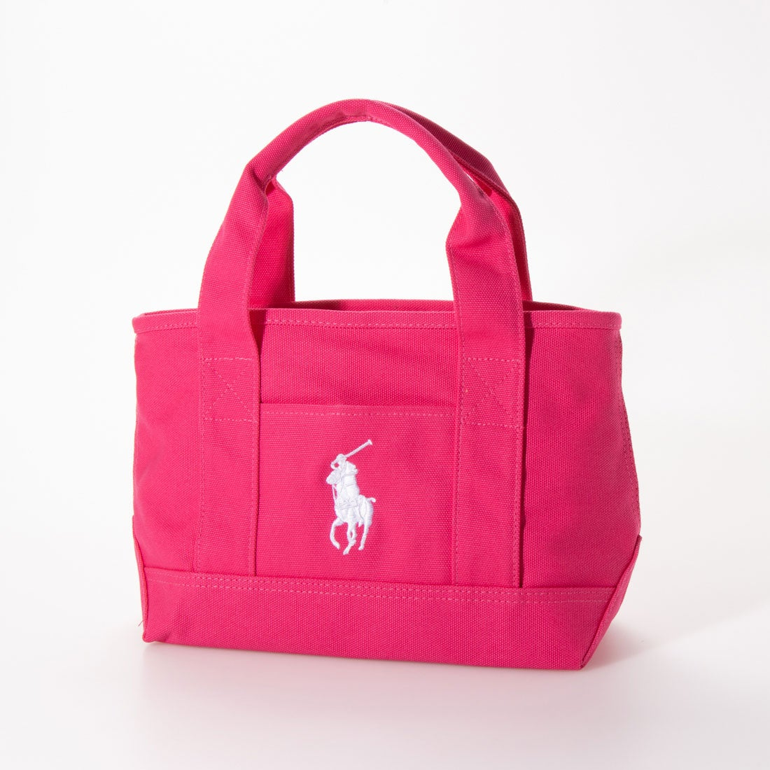 ポロラルフローレン POLO RALPH LAUREN マグネット開閉 School Tote Small II (FUCHSIA -WHITE)