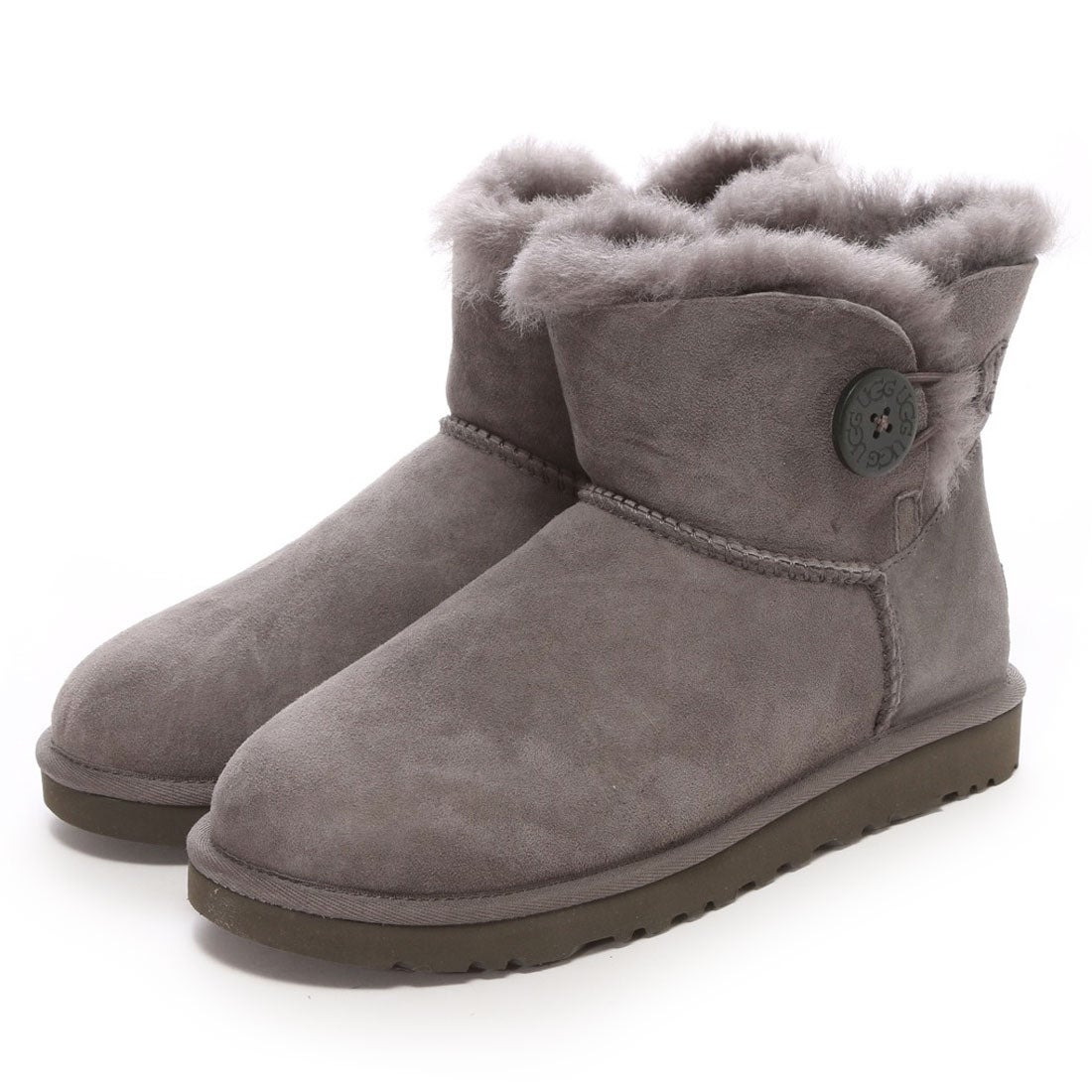 【SALE 20%OFF】アグ UGG Mini Bailey Button(グレー) レディース
