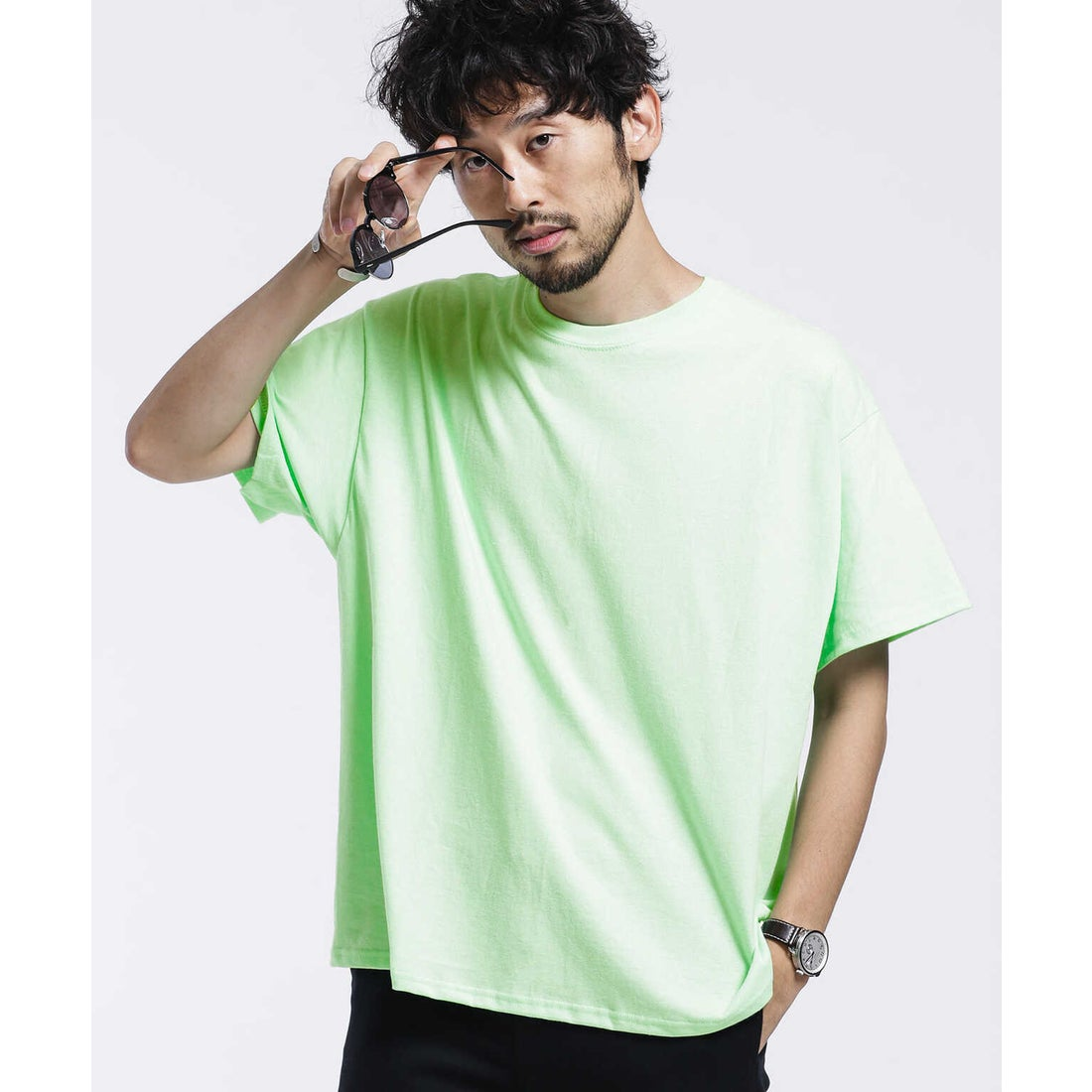 GILDANビッグシルエットリメイクTシャツ/半袖 ミント2
