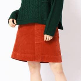 179ダブルジー 179/WG コーデュロイ台形スカート (10オレンジ)