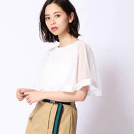 179ダブルジー 179/WG チュール切り替えTシャツ (28オフホワイト)