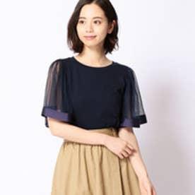 179ダブルジー 179/WG チュール切り替えTシャツ (67ネイビー)