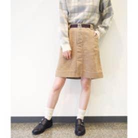 179ダブルジー 179/WG フロントボタンボックススカート (18ベージュ)