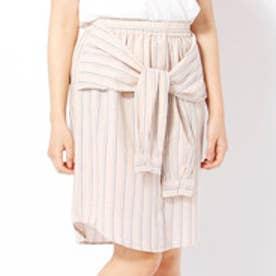 179ダブルジー 179/WG 腰巻き風ストライプスカート (08ピンク)