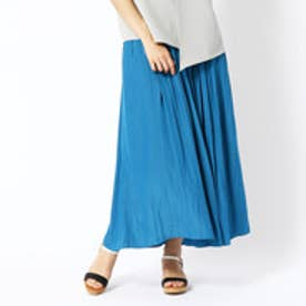 バロウズ アンド サン BURROWS & SUN ギャザーロングスカート (60ブルー)
