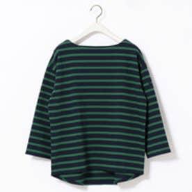 グランドパーク Grand PARK デラヴェボーダー天竺生長袖Tシャツ (40グリーン)