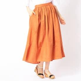 グランドパーク Grand PARK ギャザーロングスカート (10オレンジ)