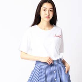 グランドパーク Grand PARK ロゴクルーネックTシャツ (09ホワイト)