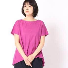 グランドパーク Grand PARK フィッシュテールフレンチ袖Tシャツ (08ピンク)