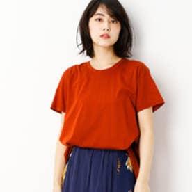 グランドパーク Grand PARK Aラインシルエット半袖クルーネックTシャツ (10オレンジ)