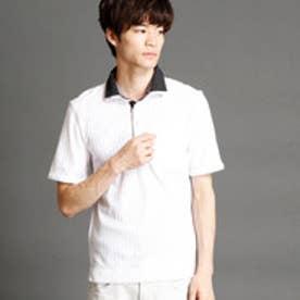 ハイダウェイ HIDEAWAYS 針抜シルケットスムース2枚襟ポロシャツ (09ホワイト)