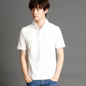 ハイダウェイ HIDEAWAYS ホリゾンタルワイドカラーポロシャツ (09ホワイト)