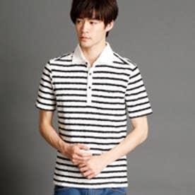 ハイダウェイ HIDEAWAYS ホリゾンタルワイドカラーポロシャツ (91その他2)