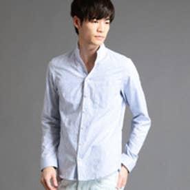 ハイダウェイ HIDEAWAYS 小花柄ジャガードシャツ (64サックス)