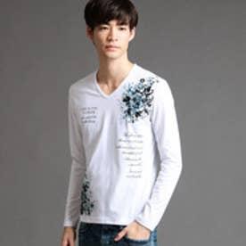 ハイダウェイ HIDEAWAYS アラカルトプリントTシャツ (09ホワイト)
