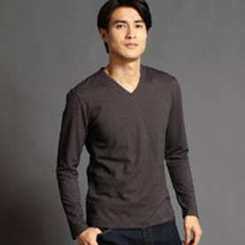 ハイダウェイ HIDEAWAYS ジャカードVネックTシャツ (49ブラック)